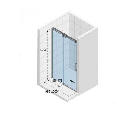 ≡ O104-100 Душ.дверь OCEAN 1000 mm - 《Заказать НЕДОРОГО》 купить в ... 048d568cf82